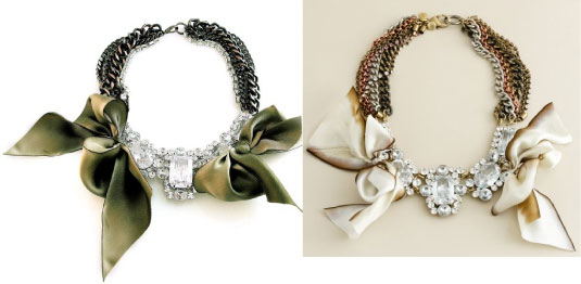 Crystal Bow Necklaces