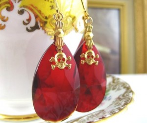 Ruby Chandelier Mizdragonfly Earrings