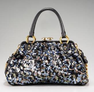 Marc Jacobs Tweed Sequin Stam Satchel