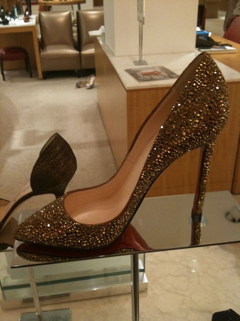 Christian Louboutin Crystal Covered Shoes