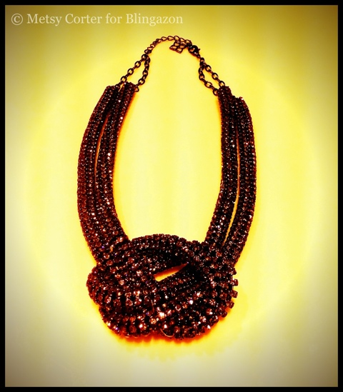BCBG Rhinestone Knot necklace