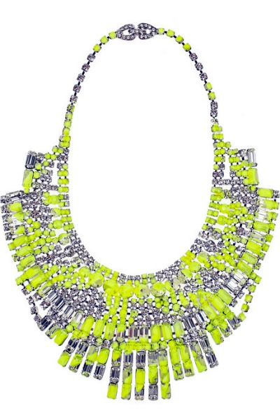 Tom Binns Slap Dash Swarovski crystal bib necklace