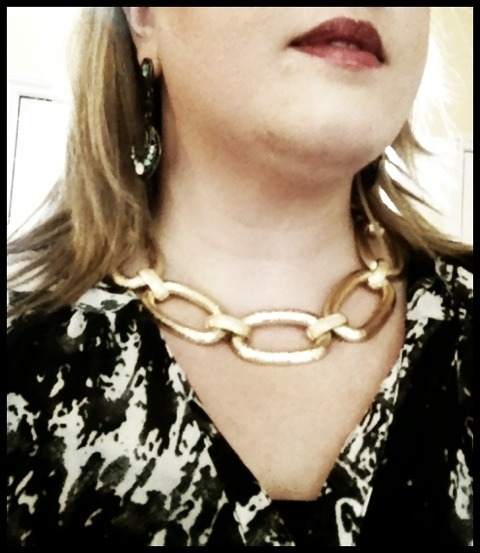 My new gold necklace from Vintage Martini