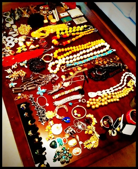 Table of jewelry at Vintage Martini