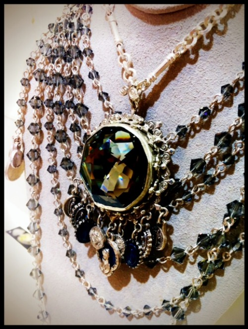Virgins, Saints, & Angels Tribal Pendant Necklace Closeup